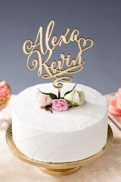 Custom wedding cake topper by Better Off Wed on Etsy #caketopper