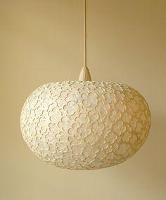 :::: sachie muramatsu :::: 紫陽花 ペンダントランプ(a hydrangea lamp)