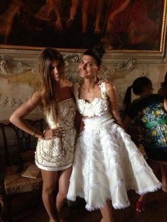 Bianca Brandoli and Giovanna Battaglia Ready for Dolce and Gabbana Alta Moda in Venice