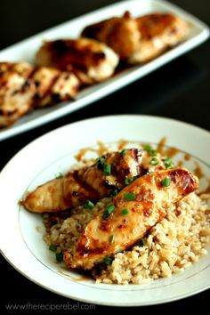 Sweet and Spicy Coconut Grilled Chicken | Grilled to perfection and slathered in a sweet and sour glaze with a bit of kick! www.thereiperebel.com