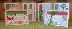 A personal favorite from my Etsy shop https://www.etsy.com/listing/244337955/handamde-christmas-cards-pink-green-with
