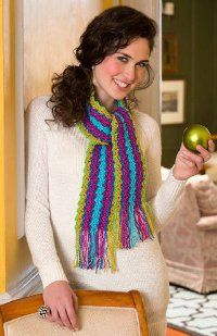 Party Scarf - free crochet pattern from Red Heart