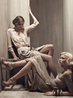 Donna Karan Spring/Summer 2011 Campaign  Model: Karlie Kloss & Abbey Lee Kershaw  Photographer: Patrick Demarchelier