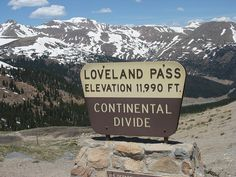 Loveland Pass, CO.  Scary drive in the winter!!