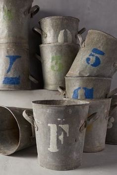 "Copy and Paste: ""Anthropologie Found In Paris: Stenciled Florist Bucket #anthrofave"""