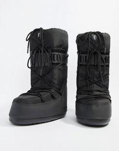05eab7d62241a Moon Boot classic premuim snow boots in black at asos.com