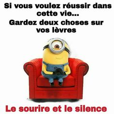 Les minions Funny Quotes, Funny Memes, Jokes, Citation Minion, Keep Calm And Smile, Minions Quotes, Despicable Me, Words Quotes, Thoughts