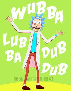 Rick and Morty Poster by offbeatandwhimsical on Etsy