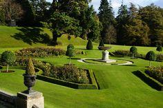 Formal gardens at Powerscourt, Co. Wicklow, Ireland