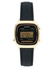Casio - LA670WEGL-1EF - Montre digitale avec bracelet en cuir noir