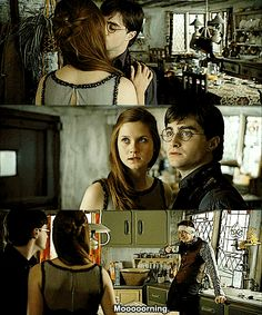 Harry and Ginny...only in the books. they made her too weak in the movies...she could totally beat harry in a duel in the books!