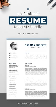Professional resume template bundle with 5 designs that fit various needs: Clean and modern resumes with a neutral look, perfect for any occasion. Compact resume that you can fill with a lot of content. Resume with a monogram for added visual impact. Resume with a photo in case you need it. Build a resume that is informative, visually attractive, easy to navigate, and showcases your skills and experience in an elegant and effective way. One Page Resume Template, Modern Resume Template, Creative Resume Templates, Creative Cv, Cover Letter For Resume, Cover Letter Template, Cover Letters, Resume References, Microsoft Word 2007