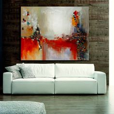 Large Original Contemporary Painting Abstract by ROSTYSLAVMALYSH