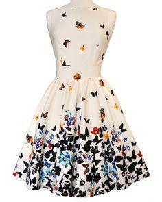 White Butterfly Tea Dress