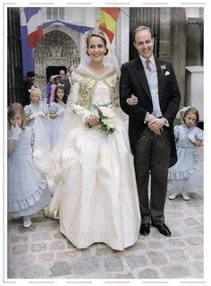 Newlywed Philomena de Tornos and Prince Jean of Orléans in 2009