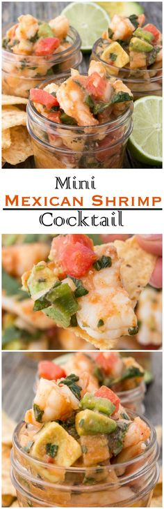 This is one cocktail we can all enjoy! Mini Mexican Shrimp Cocktails are so delicious you won't just stop at the first chip.