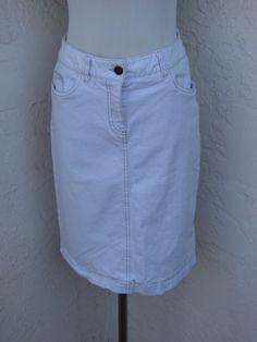 Boden Size 6L UK Size 10L White Denim Stretch Jean Skirt | eBay