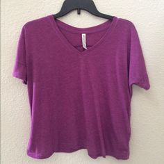 Aeropostale Tee Super soft tee from Aeropostale. The color is a purple/magenta as shown in the pictures. I am willing to negotiate, so feel free to make an offer! Aeropostale Tops Tees - Short Sleeve