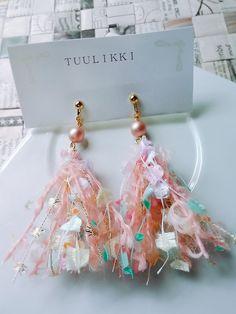 【再販】cotton candy イヤリング(チェコビーズ)