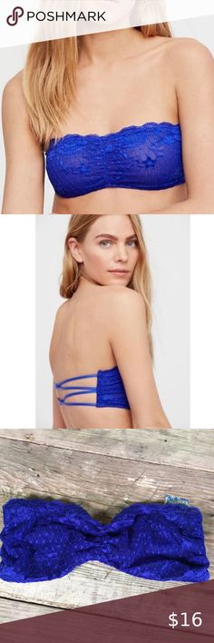 RRP £38 34b Tommy Hilfiger Lace Bandeau Bralette In Mint Brand New With Tags