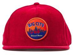 Burgundy Big City Snapback Cap by DIAMOND