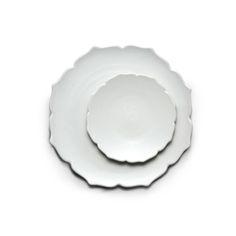 Modern line Lotus Flower-shaped Plate,set of 2 / $71.00