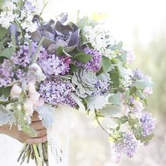 We love the colour of these stunning flowers of lush lilac ... Which colours will you choose for your #bouquet? www.wed2b.com