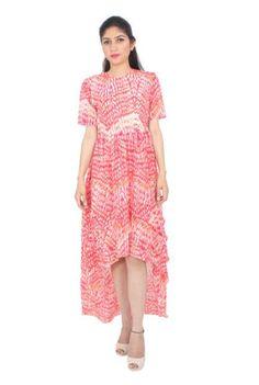 Panel Frill Asymmetric #Dress, #Westernwear #longdresses