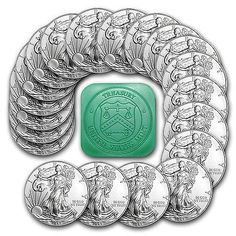 2014 1 oz Silver American Eagle Coin Lot of 20 Coins SKU 79747 | eBay