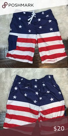Under Disguise Men/'s Stars /& Stripes Americana America Merica Jam Shorts S-XL
