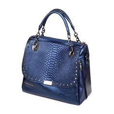 34.24$  Buy here - http://ali6i1.worldwells.pw/go.php?t=32751666377 - European Serpentine Handbag Large Capacity Women Leather Shoulder Bag 2016 Fashion Rivet Women Bags