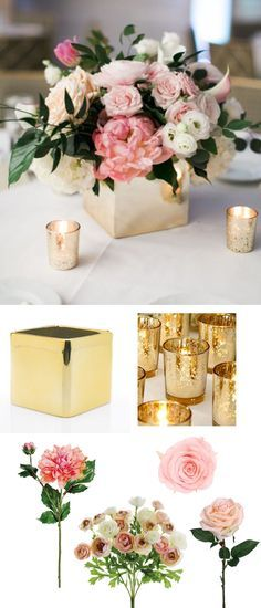 Make this beautiful wedding centerpiece with products from http://afloral.com #diywedding