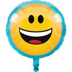 "EMOJIONS Emoji 18"" Mylar BALLOON Birthday Party Supplies Decoration"