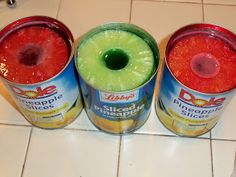 Pineapple Jell-O Rings ~ are always a big hit (esp with kids) and they are really easy to make!