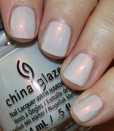 China Glaze Seas And Greetings Holiday 2016 | Vampy Varnish / Snow Way is a white with iridescent pink pearly shimmer