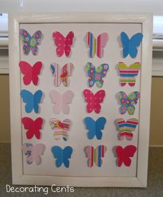 3D Butterfly Art.  Too pretty not to pin.  Maybe I can make for a grand daughter one day.