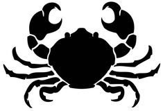 sealife stencils Reusable Laser-Cut Mylar Stencil Crab by PearlDesignStudio on Etsy Stencil Fabric, Stencil Patterns, Stencil Art, Stencil Designs, Beach Stencils, Crab Tattoo, Art Drawings For Kids, Animal Silhouette, Art Plastique