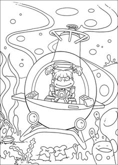 Dibujos para Colorear. Dibujos para Pintar. Dibujos para imprimir y colorear online. Rugrats 75