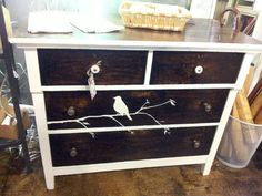 Put a bird on it! Vintage four drawer dresser $285