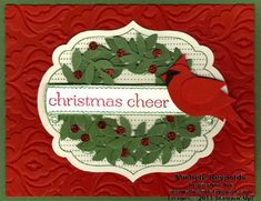 Apothecary Art Cardinal Christmas Cheer by Michelerey - Cards and Paper Crafts at Splitcoaststampers