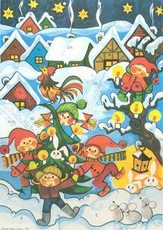 1975 Anna-Maija Usma Christmas And New Year, Christmas Cards, Old Fashioned Christmas, New Year Card, Old Toys, Childhood Memories, Old Things, Snoopy, Kids Rugs