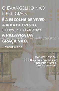 O evangelho não é religião, é a escolha de viver a vida de Cristo.  Religiosidade é cansativo, a palavra da graça não.…
