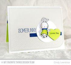 Somebunny stamp set and Die-namics, Blueprints 22 Die-namics - Cindy Lawrence #mftstamps