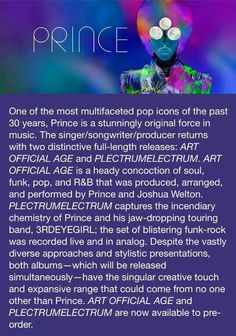 Prince - Art Official Age and Pletrumelectrum