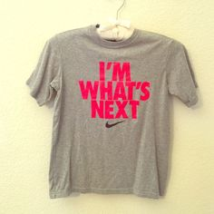 Nike Tee Nike top size small fits accordingly! Love the saying. Great condition! Additional picture or information requests are always welcomed! ☺️ Nike Tops Tees - Short Sleeve