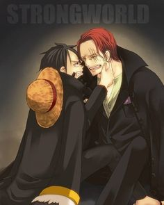 Shanks and luffy #one piece #filmz
