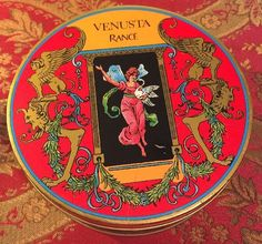Venusta Rance Commemorative Metal Tin Shadow Box Container Paris France Perfume
