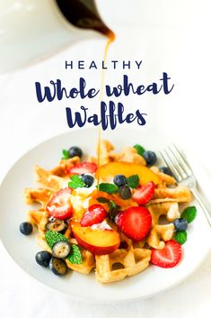 Healthy whole wheat waffles