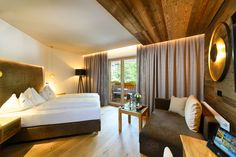 Hotel Berghof, Modern, Curtains, Bed, Furniture, Home Decor, Salzburg Austria, Double Room, Winter Vacations