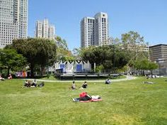 Yerba Buena Gardens, often a site for free music in the park and always a great place for an impromptu picnic!